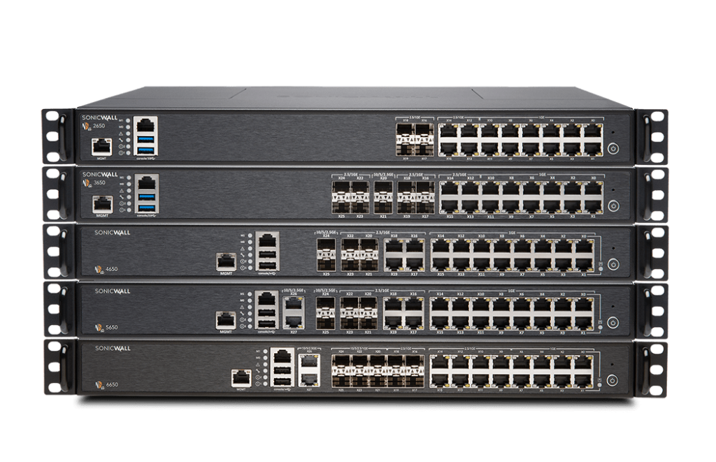 SonicWall NSa 2650-6650 Firewall Support