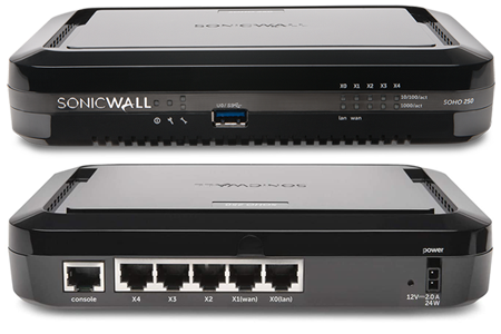 SonicWall SOHO 250 Firewall with 1 Year License